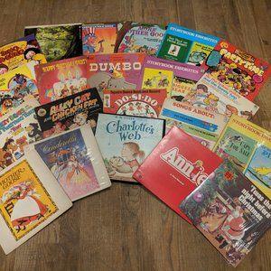 vinyl record/21 disney audio books